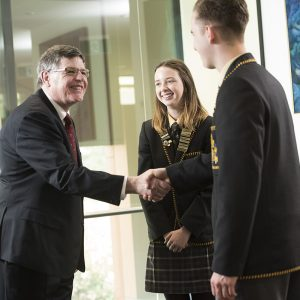 Principal Mr Andrew Neal with Year 12 Leaders